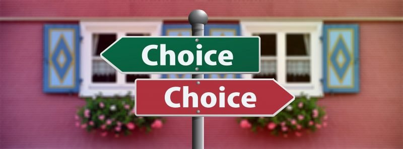 A sign of choices