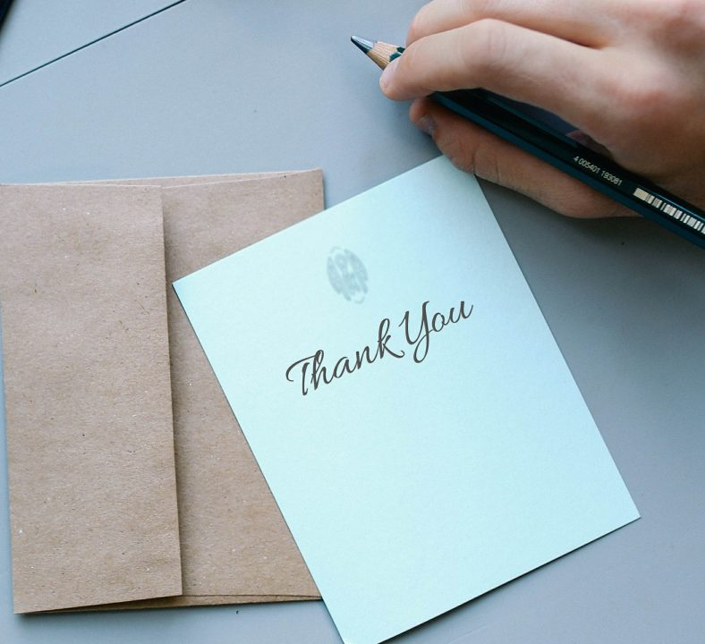 grief thank you card