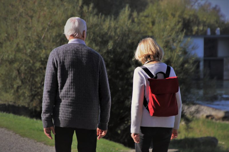 adult friends walking